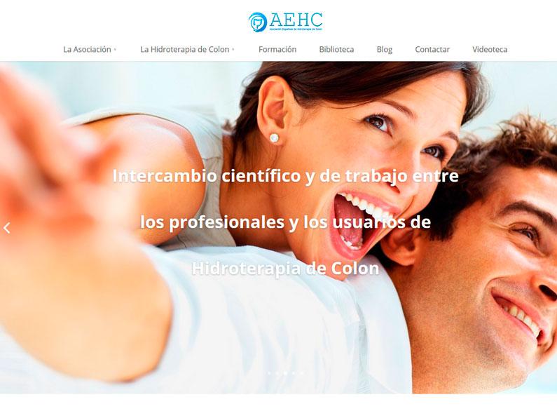 Web AEHC, Asociación Española de Hidroterapia de Colon