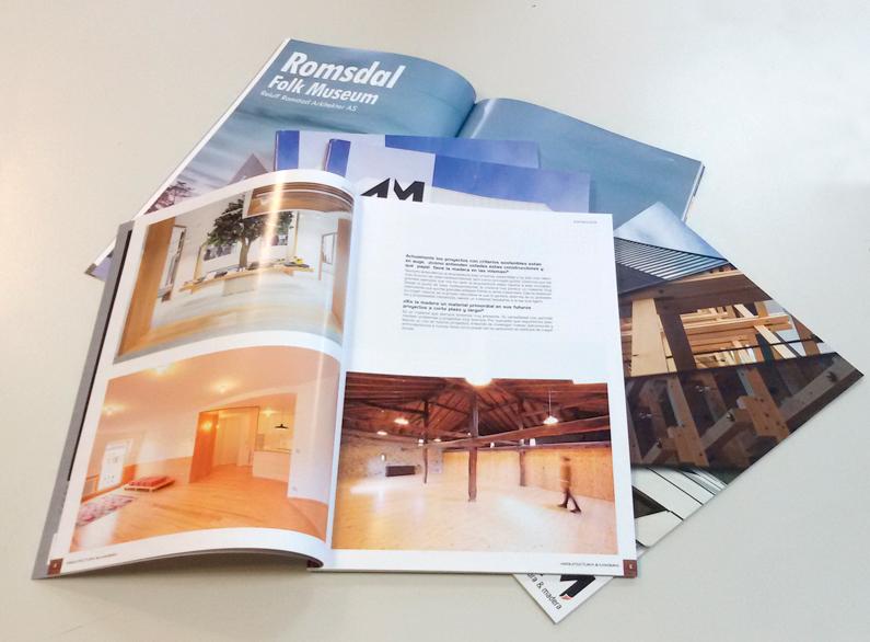 Muestra interior de revistas