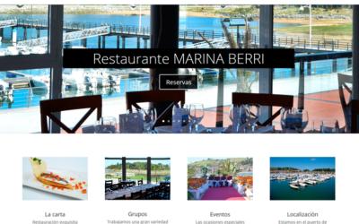 Nueva web corporativa para el Restaurante Marina Berri de Zumaia