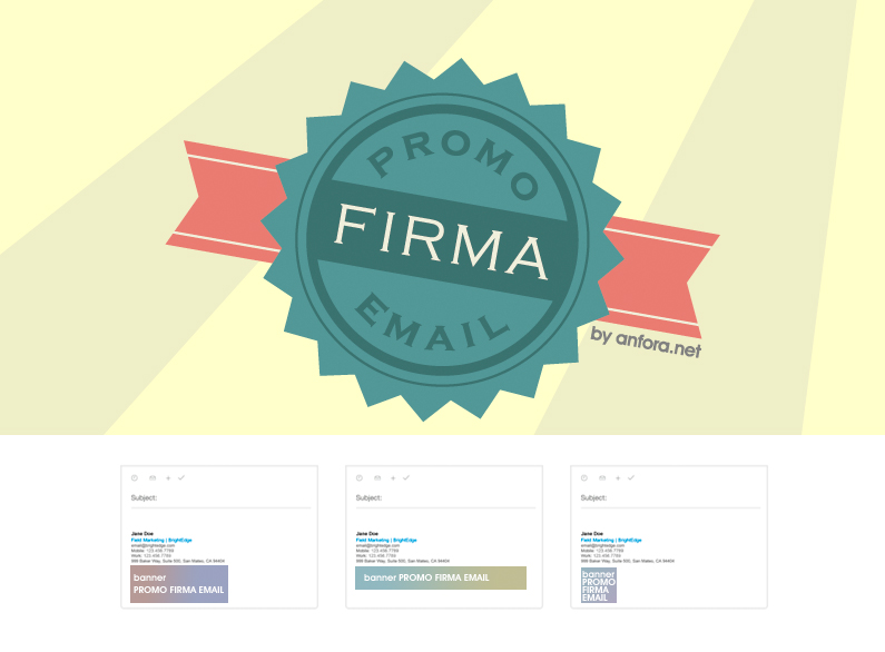 Publicita tus productos, eventos o novedades desde tu firma y envíos de correo electrónico