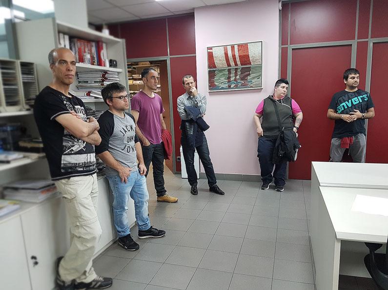 Visita de alumnos del curso de Lanbide sobre desarrollo de páginas web