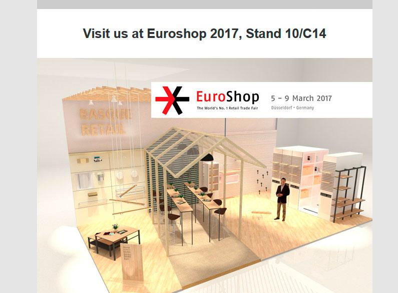 Campaña mailing para «basque retail» en la feria EuroShop2017