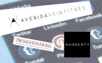 Gestión de las redes sociales de Promoción moda, Hangerty, Avenidaventitrés