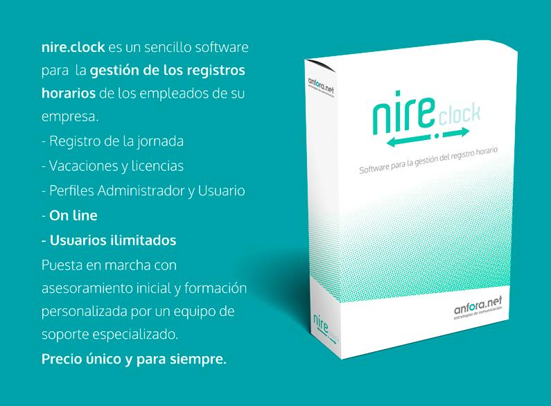 nire clock. Nuestra nueva herramienta on line para la gestión del registro horario.